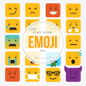 Flat icon emoji character