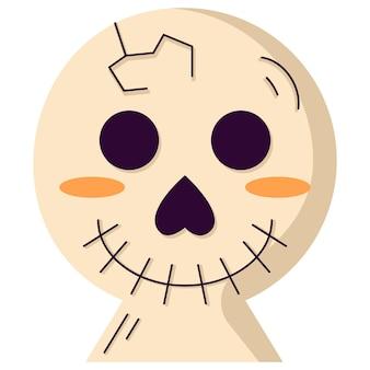 Плоский значок иллюстрации жутких предметов хэллоуина