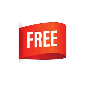 Flat icon with free banner