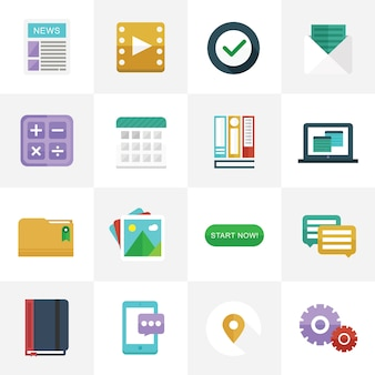 Flat Icons for UI Design