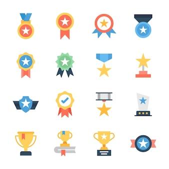 Звездные награды flat icons pack