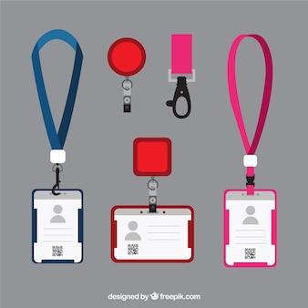 Плоская идентификационная карточка с застежками и ремешками
