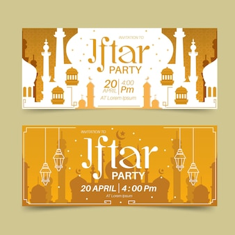 Набор плоских баннеров ифтара
