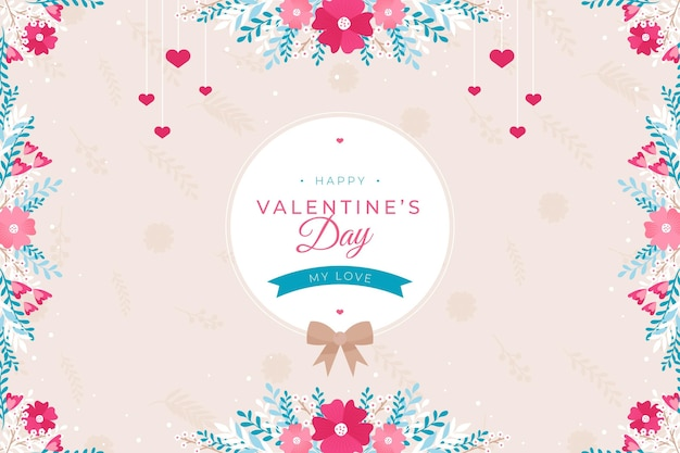 Flat illustrated valentine's day wallpaper