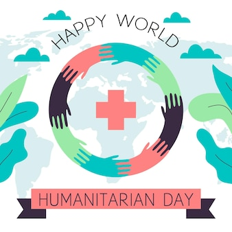 Flat illustrated world humanitarian day