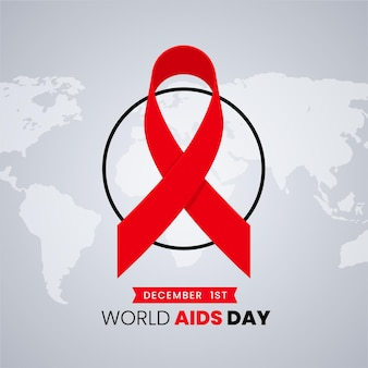 Flat illustration of aids day concept