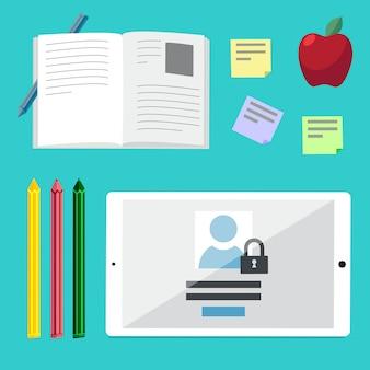 Плоские иллюстрации концепции для образования