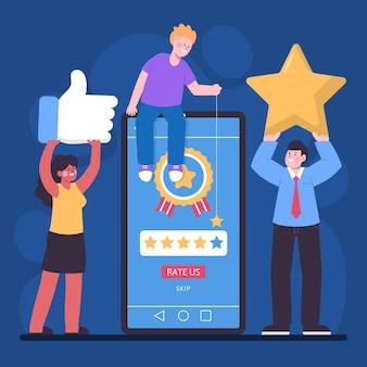 Concetto di feedback illustrazione piatta