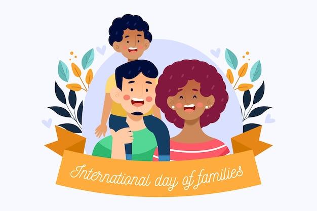 가족의 국제적인 날을위한 평면 그림