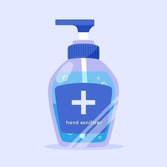 Flat illustration of hand sanitizer