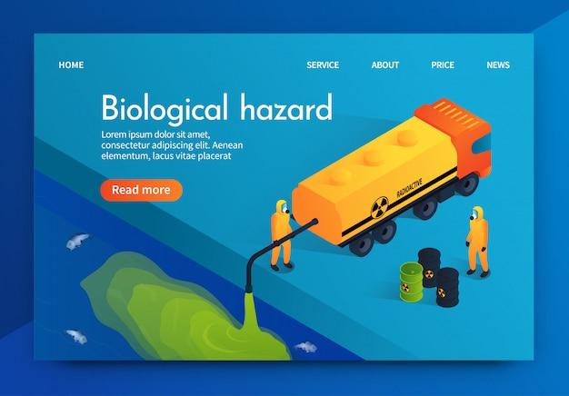 Flat illustration humanity biological hazard.