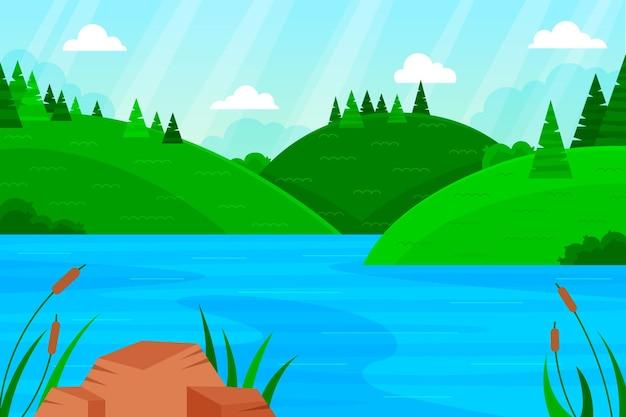 Flat illustration of landscape