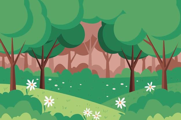 Illustrazione piatta del paesaggio