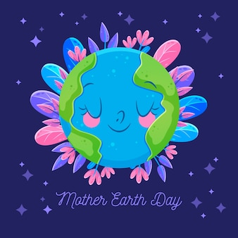 Flat illustration mother earth day