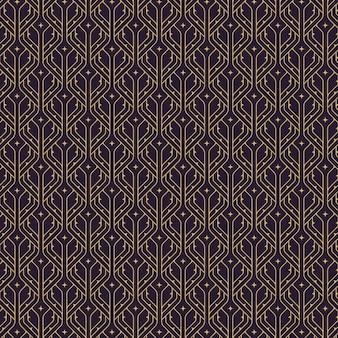 アールデコパターンのフラットイラスト