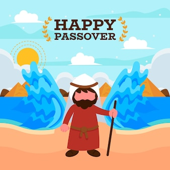 Flat illustration for passover event