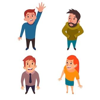 Illustrazione piatta di persone che guardano in alto