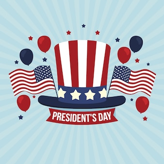 Flat illustration of president's day concept
