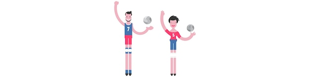 Flat illustration sporting characters