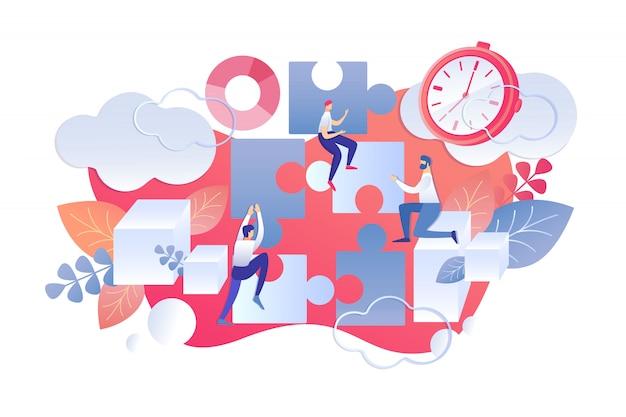 Flat illustration time management day start rule.