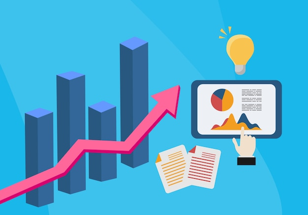 Flat illustration web analytics