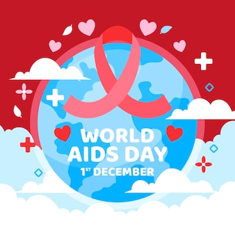 Flat illustration of world aids day concept