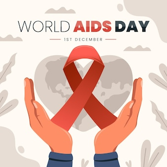 Flat illustration of world aids day event