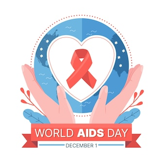 Flat illustration of world aids day