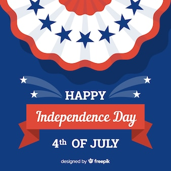 Flat independence day background