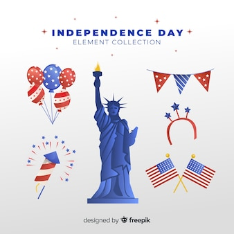 Flat independence day element collection
