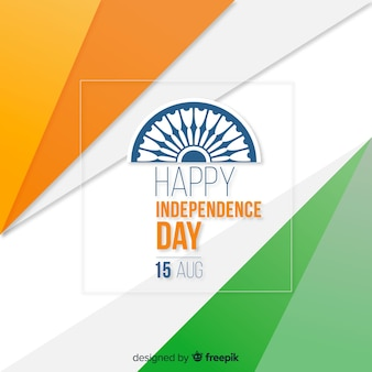 Flat india independence day background