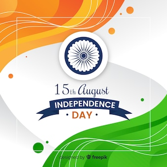 Flat india independence day background Vector | Free Download