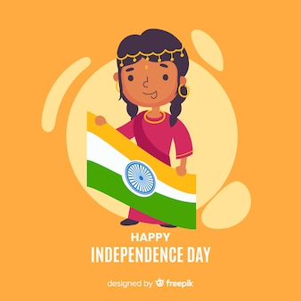 Flat india independence day  background