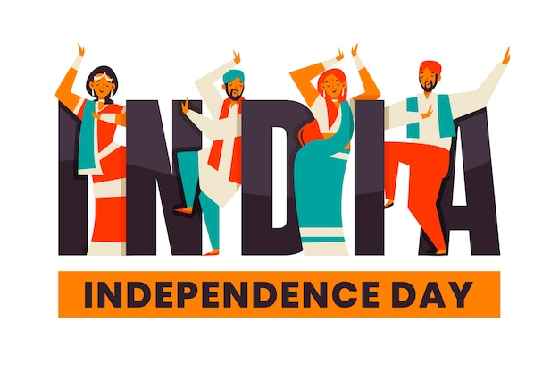 평면 인도 독립 기념일 그림