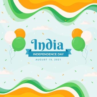 Illustrazione piatta del giorno dell'indipendenza dell'india