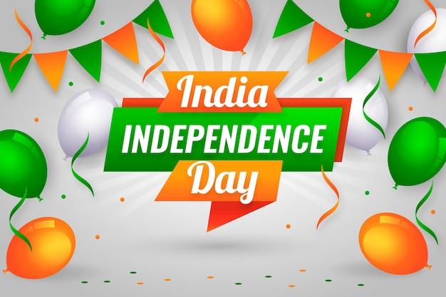 Плоская иллюстрация дня независимости индии
