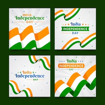 Flat india independence day instagram posts collection