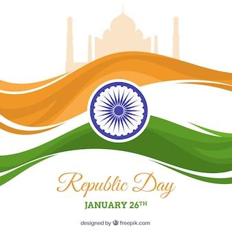 Flat india republic day background