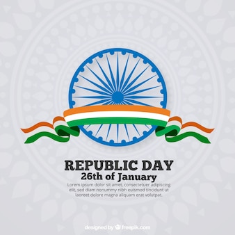Flat india republic day background