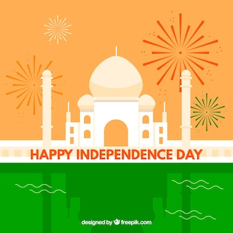Flat indian independence day background