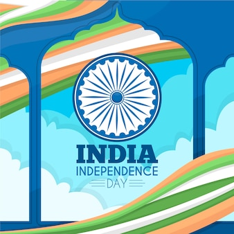 Flat indian independence republic day