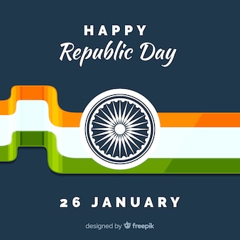 Flat indian republic day background