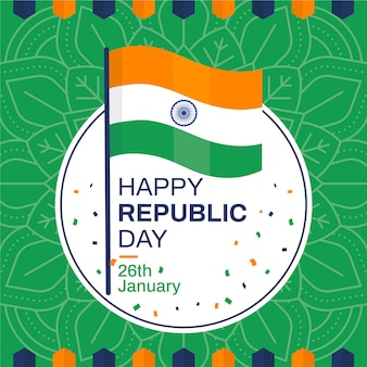 Flat indian republic day wallpaper