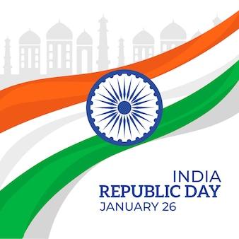 Плоский индийский день республики