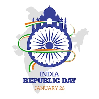 Flat indian republic day