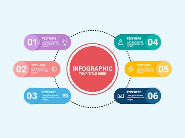 Flat infographic element