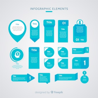 Flat infographic element
