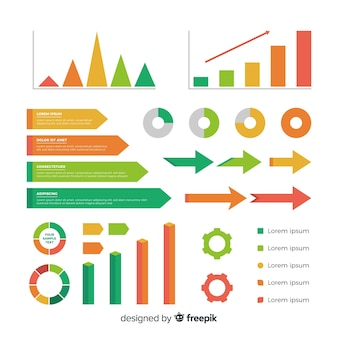Flat infographic elements collection