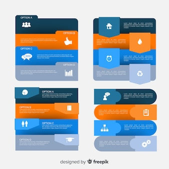 Flat infographic elements template