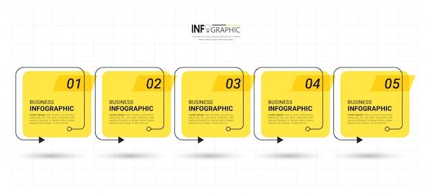 Flat infographic elements